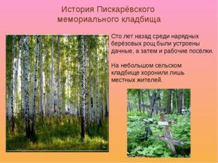 История Пискарёвского мемориального кладбища Сто лет назад среди нарядных бер