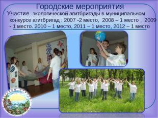 Городские мероприятия Участие экологической агитбригады в муниципальном конку
