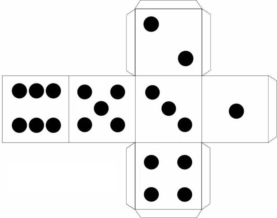 Игральные кубики своими руками из бумаги