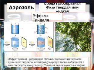 Эффект Тиндаля Эффект Тиндаля – рассеивание света при прохождении светового п