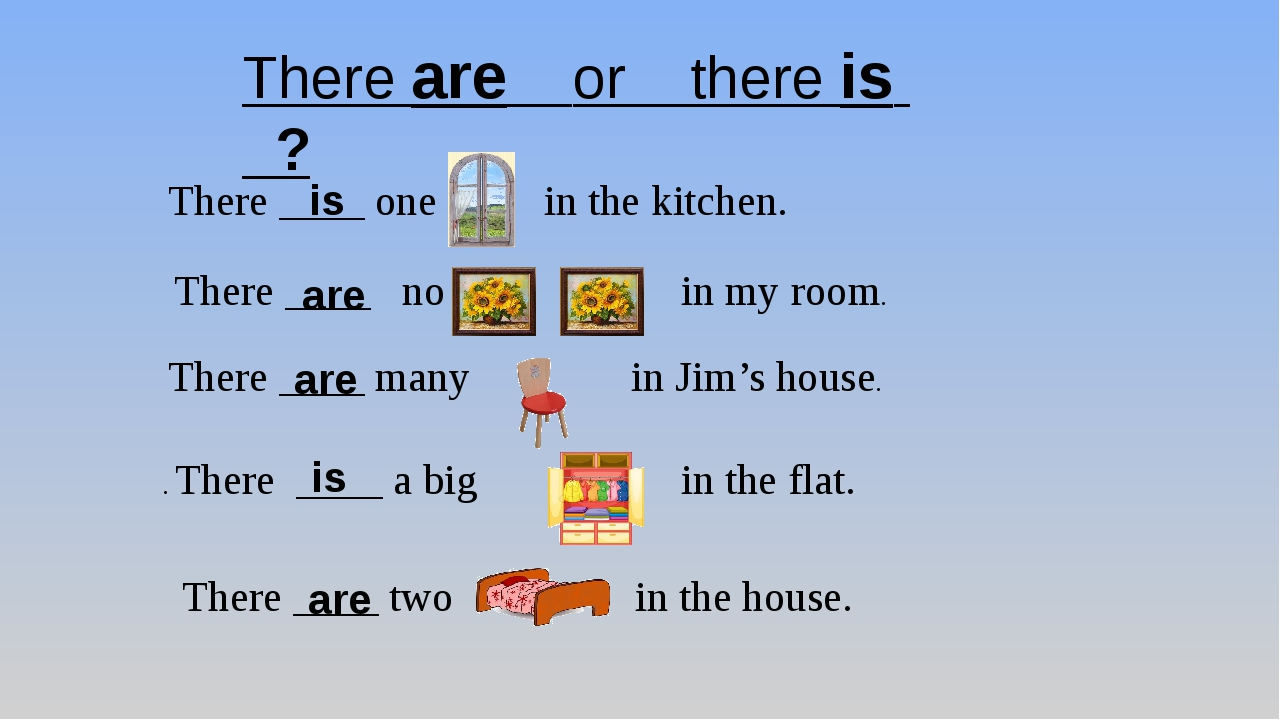 There are or there is ? There ____ one in the kitchen. There ____ no in my ro...
