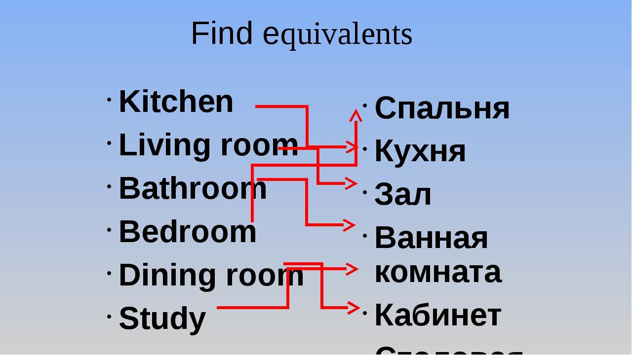 Kitchen Living room Bathroom Bedroom Dining room Study Спальня Кухня Зал Ванн...