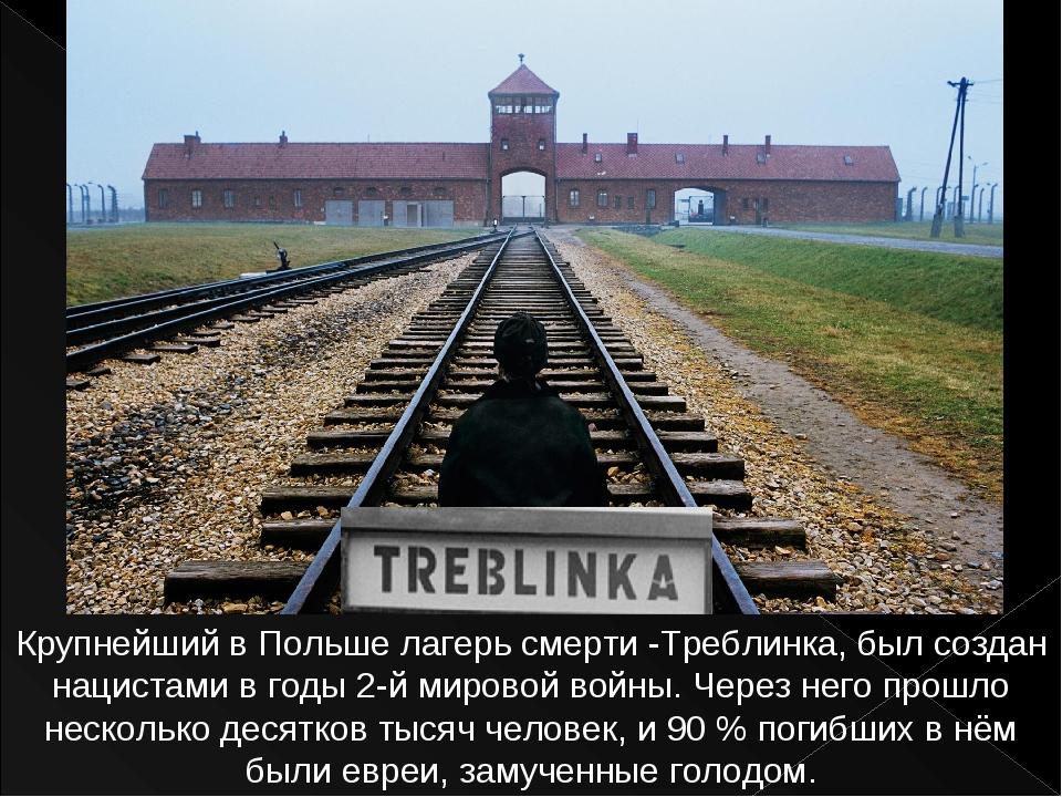 Крупнейший в Польше лагерь смерти -Треблинка, был создан нацистами в годы 2-й...