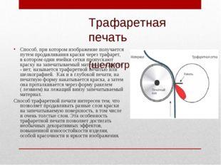 Трафаретная печать (шелкография) Способ, при котором изображение получается п