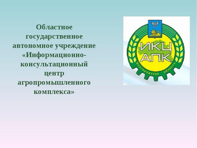 Областное государственное автономное учреждение «Информационно-консультационн...