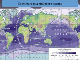 Соленость вод мирового океана