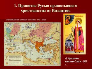 1. Принятие Русью православного христианства от Византии. Византийская импери