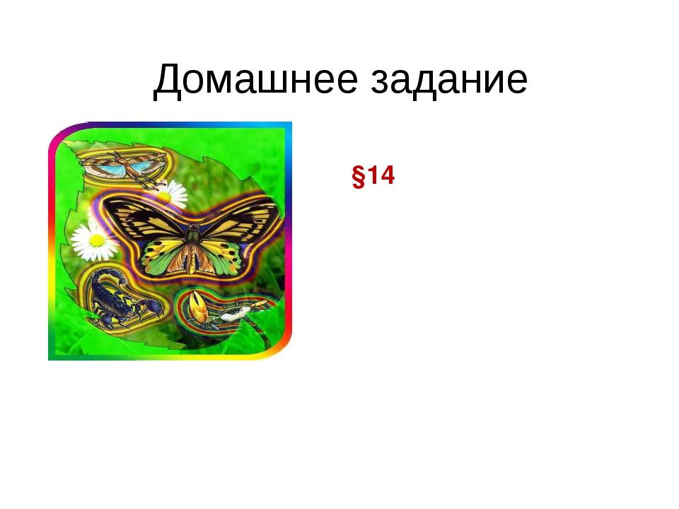 Домашнее задание §14
