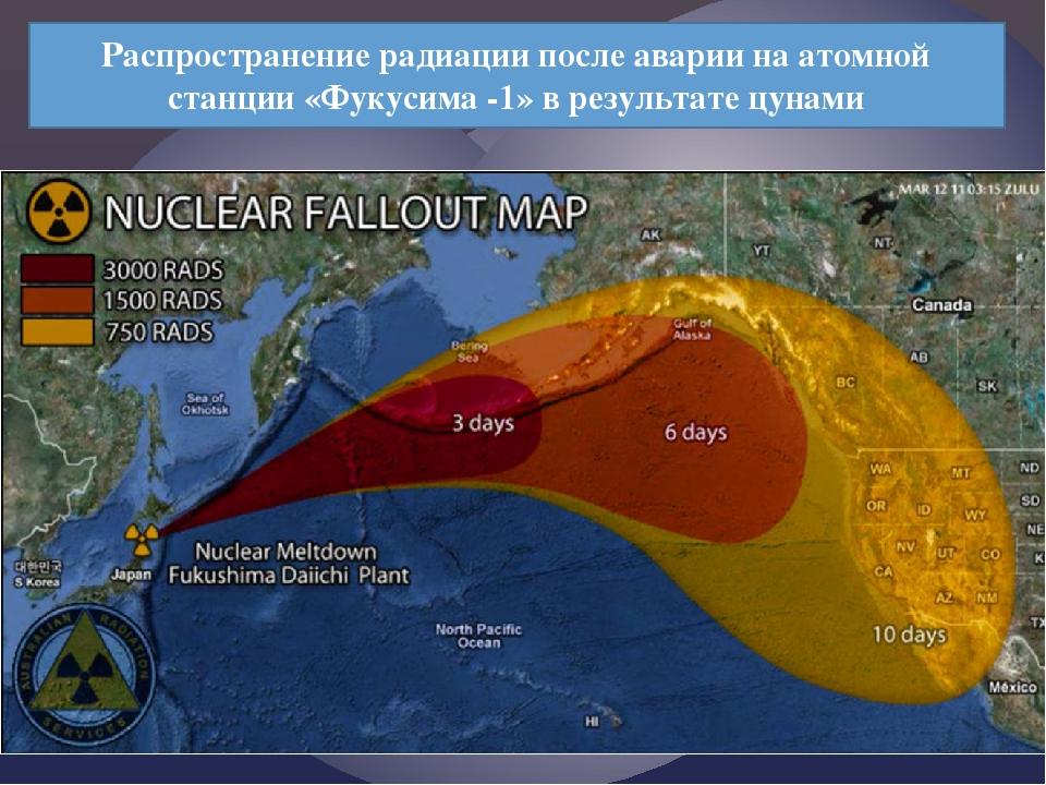 Распространение радиации после аварии на атомной станции «Фукусима -1» в резу...
