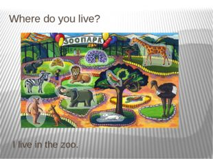 Where do you live? I live in the zoo.