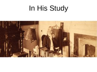 In His Study