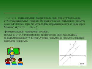 І. функциясының графигін салу үшін егер d>0 болса, онда у=f`(х) функциясының