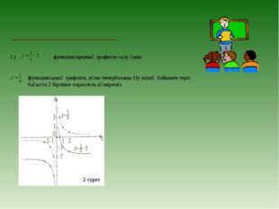 ә) функцияларының графигін салу үшін функциясының графигін, яғни гиперболаны