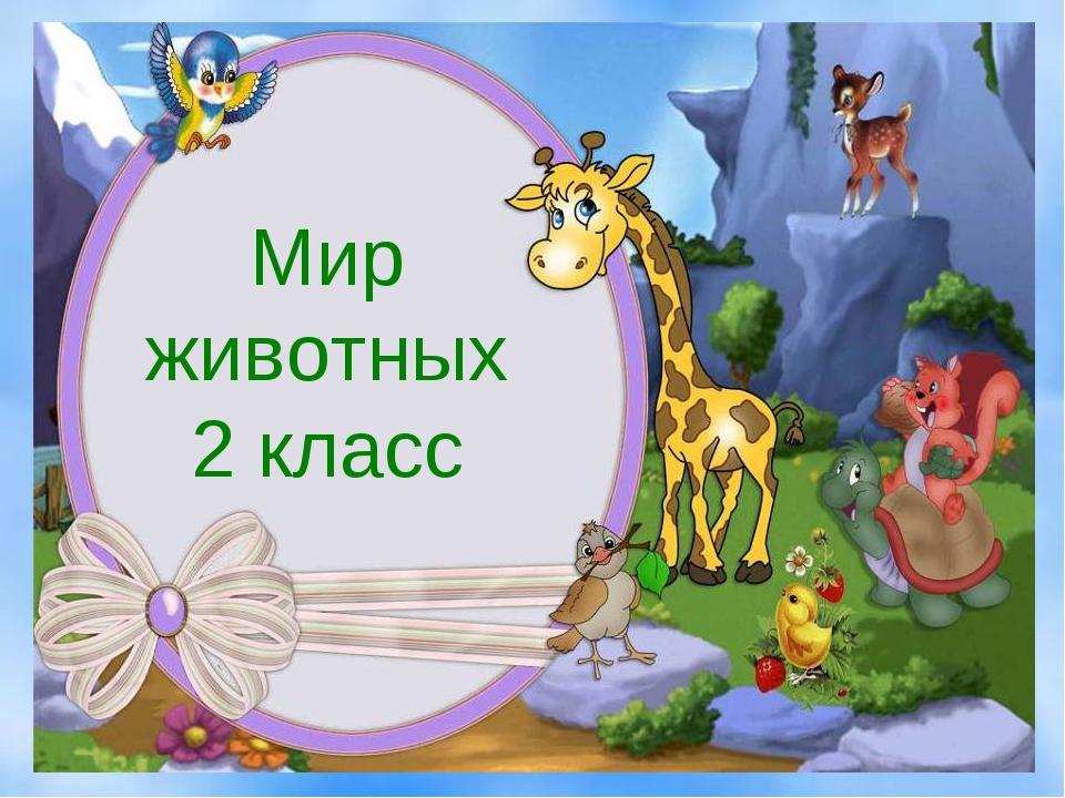 Мир животных 2 класс
