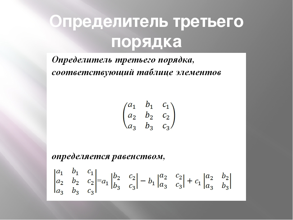 Определитель третьего порядка