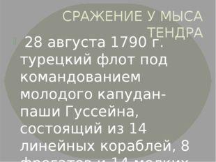 СРАЖЕНИЕ У МЫСА ТЕНДРА 28 августа 1790г. турецкий флот под командованием мол
