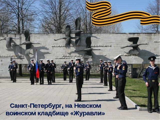 Санкт-Петербург, на Невском воинском кладбище «Журавли»