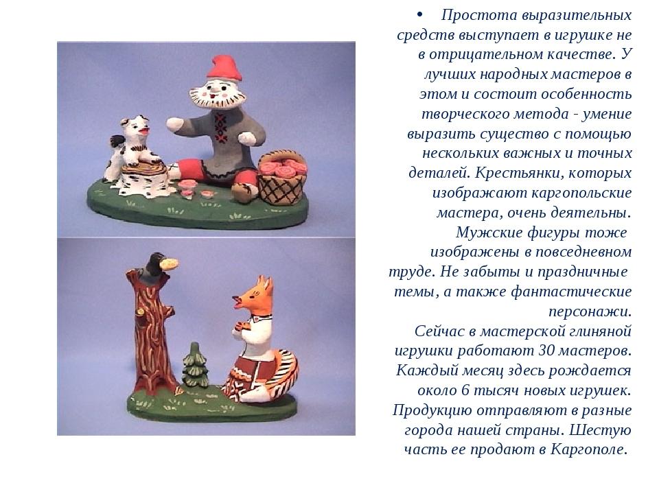 Простота выразительных средств выступает в игрушке не в отрицательном качеств...