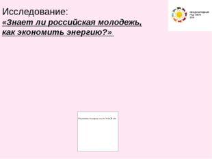 Исследование: «Знает ли российская молодежь, как экономить энергию?»