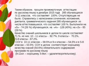 Таким образом, прошли промежуточную аттестацию по русскому языку в декабре