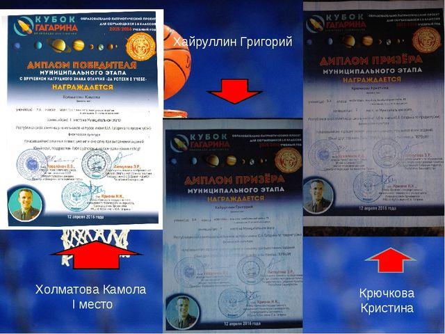 Хайруллин Григорий Холматова Камола I место Крючкова Кристина