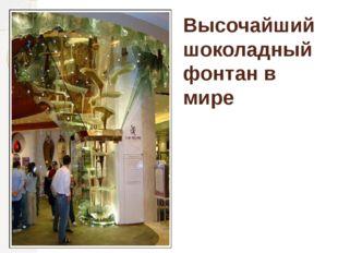 Высочайший шоколадный фонтан в мире