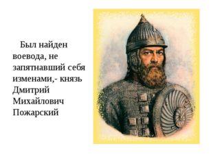 Был найден воевода, не запятнавший себя изменами,- князь Дмитрий Михайлович