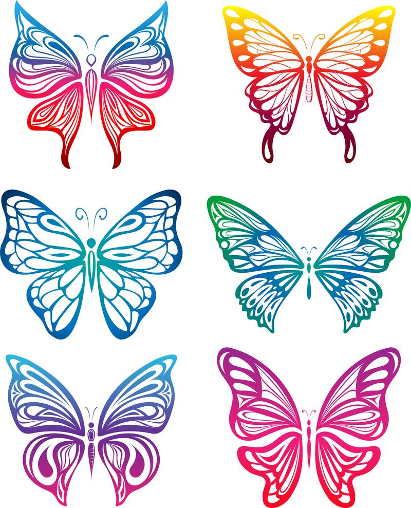 Вырезать бабочек