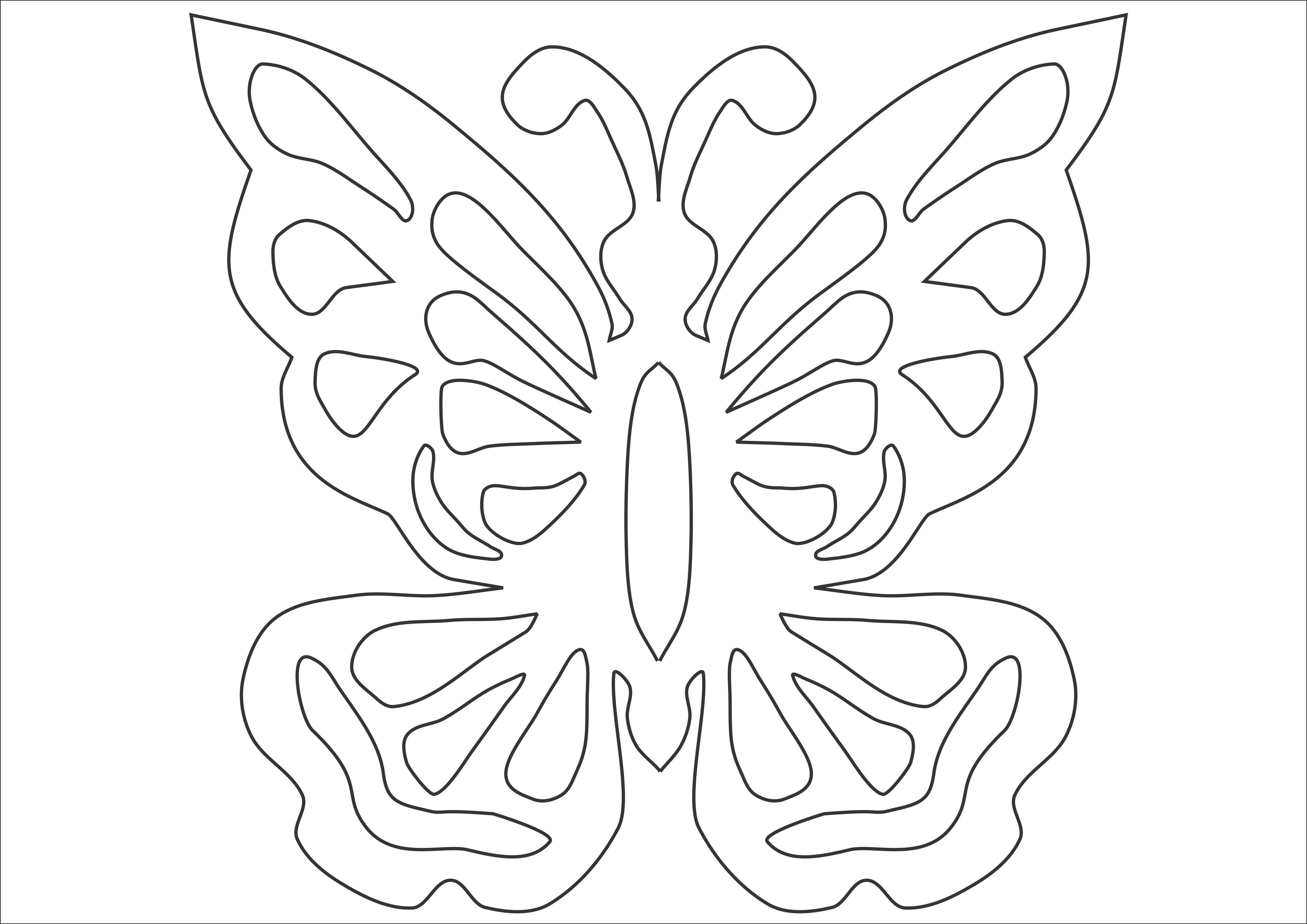 Днем, вырезаем бабочки для открыток