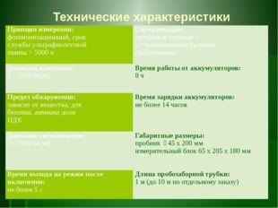 Технические характеристики Принцип измерения: фотоионизационный, срок службы