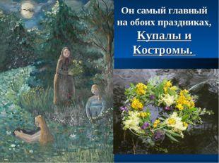Он самый главный на обоих праздниках, Купалы и Костромы.