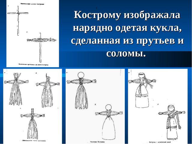 . Кострому изображала нарядно одетая кукла, сделанная из прутьев и соломы.