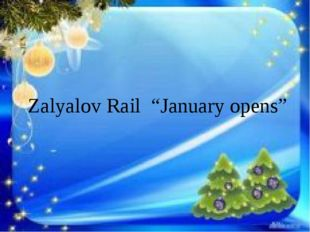 "Zalyalov Rail ""January opens"""