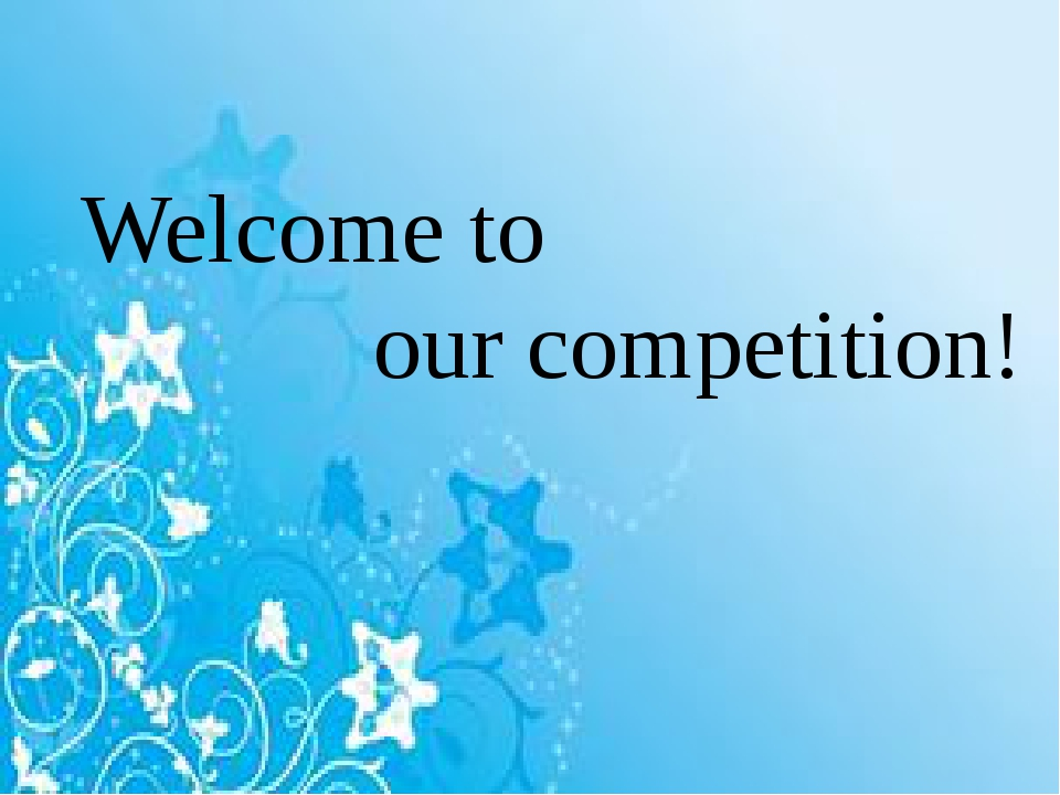 Welcome to our competition!