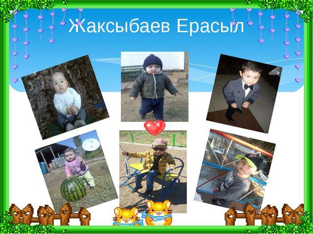 Жаксыбаев Ерасыл