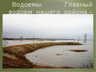 Водоемы. Главный водоем нашего района – река Сейм. .