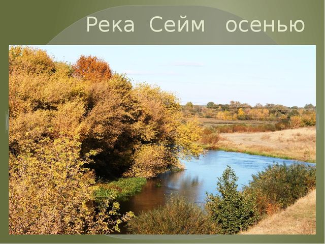 Река Сейм осенью