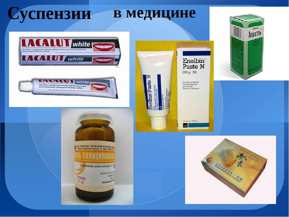 Суспензии в медицине