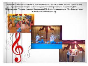 В течение 2015 года коллективом Красноармейской ООШ и сельким клубом проводи