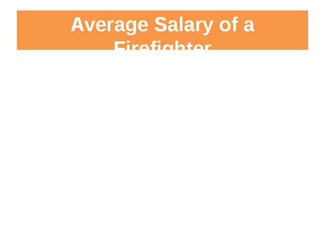 Average Salary of a Firefighter (area, certifications, rank)