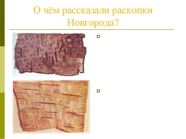 О чём рассказали раскопки Новгорода? Новгородская земля перенасыщенная влагой...
