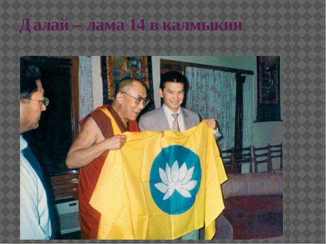 Далай – лама 14 в калмыкии