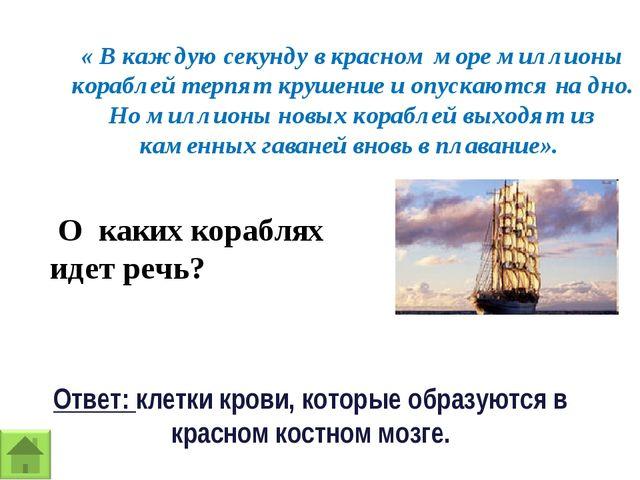« В каждую секунду в красном море миллионы кораблей терпят крушение и опускаю...