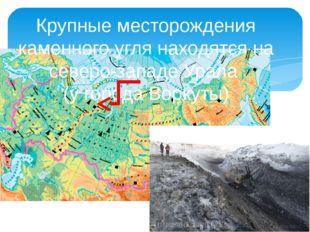 Крупные месторождения каменного угля находятся на северо-западе Урала (у гор