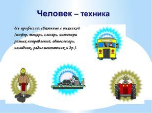 все профессии, связанные с техникой (шофер, токарь, слесарь, инженеры разных