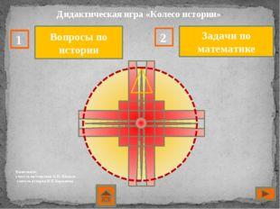 Дидактическая игра «Колесо истории» Выполнили: учитель математики О.П. Шокал