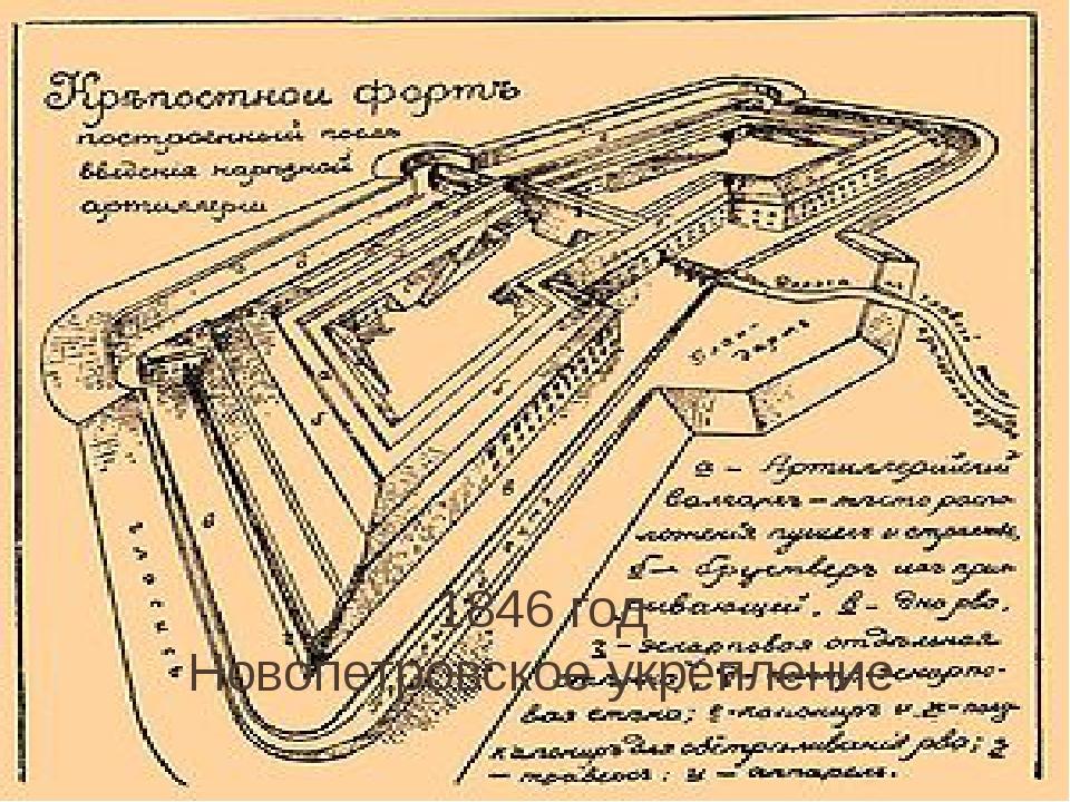 1846 год Новопетровское укрепление