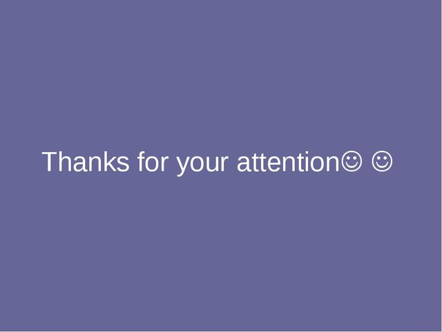 Thanks for your attention 
