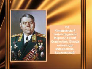 На Кинешемской земле родился Маршал Герой Советского Союза Александр Михайло