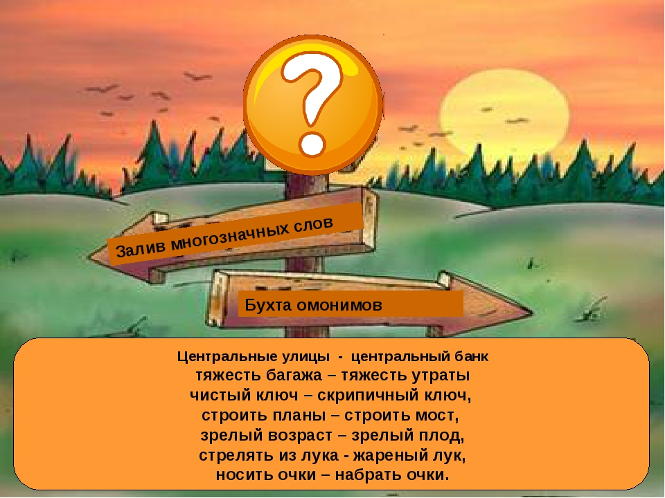 Залив многозначных слов Залив омонимов Бухта омонимов Залив многозначных слов...